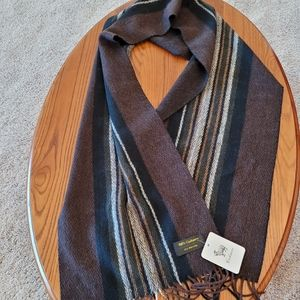 Brown 100% cashmere scarf - NEW
